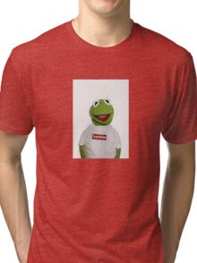 Kermit with Supreme Tri-blend T-Shirt