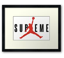 Jordan Supremem collab Framed Print