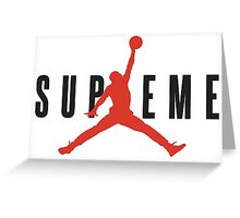 Jordan Supremem collab Greeting Card