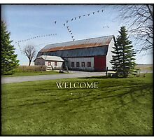 Barn & Geese - Welcome Photographic Print