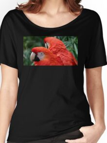 Scarlet Macaws Women's Relaxed Fit T-Shirt