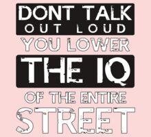 Sherlock - Don't Talk Out Loud... Kids Tee