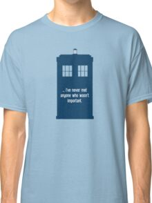 Doctor Who  - Tardis with Quote  Classic T-Shirt