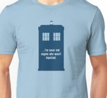 Doctor Who  - Tardis with Quote  Unisex T-Shirt