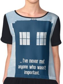 Doctor Who  - Tardis with Quote  Chiffon Top