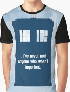 Doctor Who  - Tardis with Quote  Graphic T-Shirt