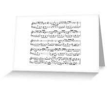Music notes Greeting Card