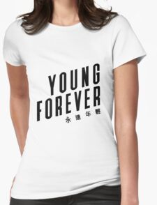 Young forever - BTS 190416 (WHITE) Womens Fitted T-Shirt