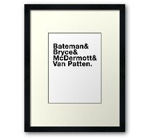 American Psycho - Bateman and co Framed Print