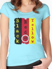 """Pearl Jam - Black, Red, Yellow """"Lyric inspired"""" T Women's Fitted Scoop T-Shirt"""