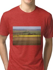 Spring Fields in SOmerset SW England Tri-blend T-Shirt