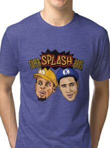 Steph Curry Klay Thompson Super Splash Bros Tri-blend T-Shirt