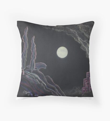 The Ghost of the Wilderness Throw Pillow