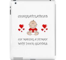 Congratulations Genitals iPad Case/Skin