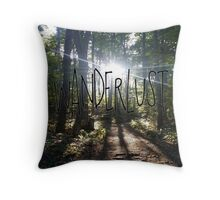 Wanderlust Nature Hike Throw Pillow