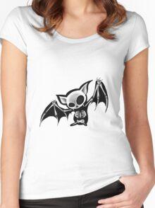 Skeleton bat Women's Fitted Scoop T-Shirt