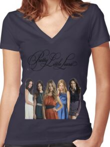 Pretty Little Liars - PLL - (Designs4You) Women's Fitted V-Neck T-Shirt