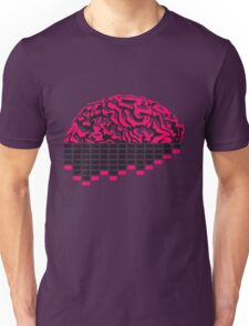 music party dj club cyborg brain machine computer science fiction microchip intelligence brain design cool robot black Unisex T-Shirt