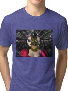 ANDROID XENIA SPACESHIP PILOT  / Sci -Fi Tri-blend T-Shirt
