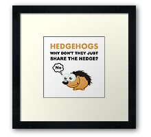 Hedgehog Share Framed Print