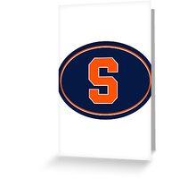 Syracuse S Greeting Card