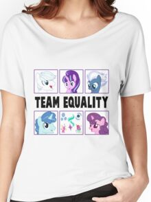 TEAM EQUALITY - WHITE VERSION Women's Relaxed Fit T-Shirt