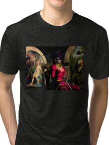ANDROID XENIA IN HYPERION'S ORBITER  Sci-Fi Tri-blend T-Shirt