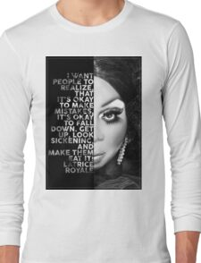 Latrice Royale Text  Portrait Long Sleeve T-Shirt
