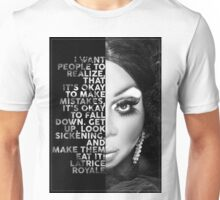 Latrice Royale Text  Portrait Unisex T-Shirt