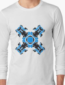 microchip motherboard technology line connection datentechnik electronics cool design robot cyborg energy pattern Long Sleeve T-Shirt