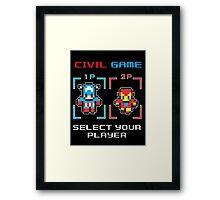 civil game Framed Print
