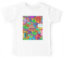 happy birthday poop emoji Kids Tee
