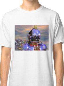 TITAN CYBORG PORTRAIT Blue Science Fiction ,Sci Fi Classic T-Shirt