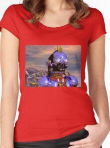 TITAN CYBORG PORTRAIT Blue Science Fiction ,Sci Fi Women's Fitted Scoop T-Shirt