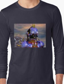 TITAN CYBORG PORTRAIT Blue Science Fiction ,Sci Fi Long Sleeve T-Shirt