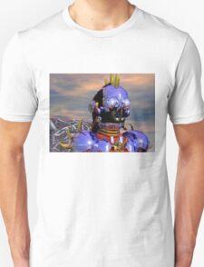 TITAN CYBORG PORTRAIT Blue Science Fiction ,Sci Fi Unisex T-Shirt