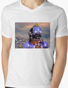 TITAN CYBORG PORTRAIT Blue Science Fiction ,Sci Fi Mens V-Neck T-Shirt