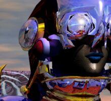 TITAN CYBORG PORTRAIT Blue Science Fiction ,Sci Fi Sticker
