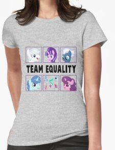 TEAM EQUALITY - CLEAR BOXES VERSION Womens Fitted T-Shirt