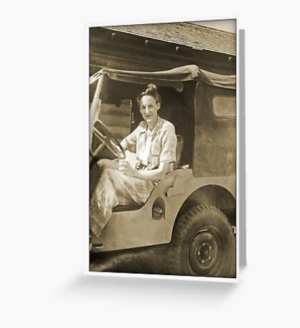 Judy's Jeep Greeting Card