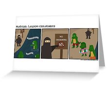 Lagoon Creatures-Mateys comic strip Greeting Card