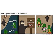 Lagoon Creatures-Mateys comic strip Photographic Print