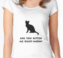 Kitten Meow Women's Fitted Scoop T-Shirt