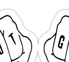 Adorable Riot Grrrl Knuckles Sticker