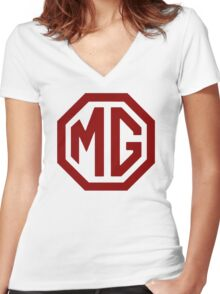 MG Women's Fitted V-Neck T-Shirt