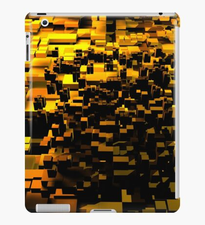 Yellow cubes iPad Case/Skin
