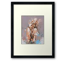 A Grown Man in a Bathtub with Toys (because what I do on my own time is my business) Framed Print
