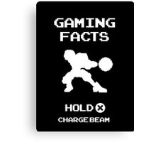 Gaming Facts Charge Beam Canvas Print