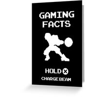Gaming Facts Charge Beam Greeting Card