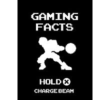 Gaming Facts Charge Beam Photographic Print